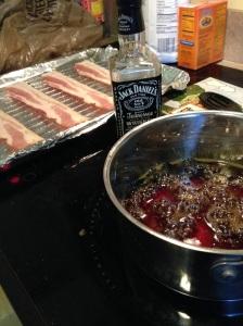 Maple Bourbon Bacon process